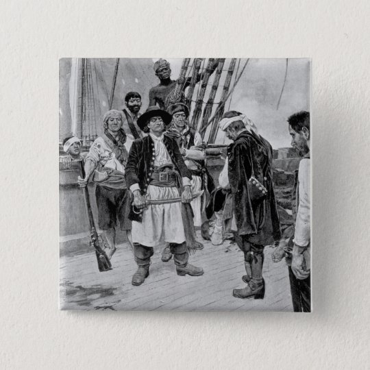 Captain Tongrelow Took the Biggest, illustration Pinback Button