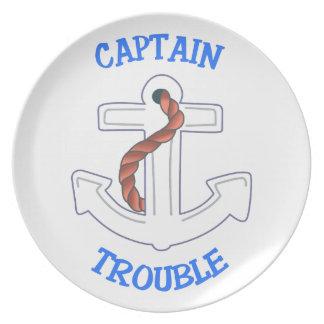 Captain Trouble Plate