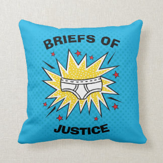 Captain Underpants | Briefs of Justice Throw Pillow
