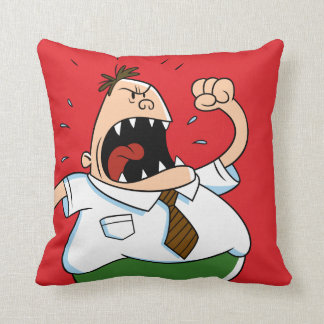 Captain Underpants | Principal Krupp Yelling Throw Pillow