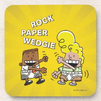 Captain Underpants   Rock Paper Wedgie Drink Coaster