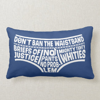 Captain Underpants | Typography Tighty Whities Lumbar Pillow