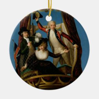 Captain Vincenzo Lunardi with his Assistant George Ceramic Ornament