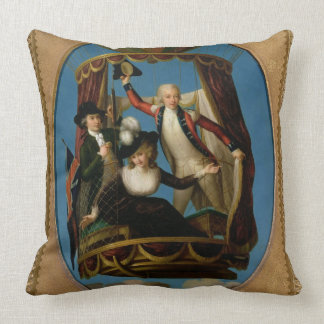 Captain Vincenzo Lunardi with his Assistant George Throw Pillow
