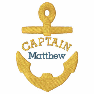 Captain - With Anchor customizable Embroidered Hoodies