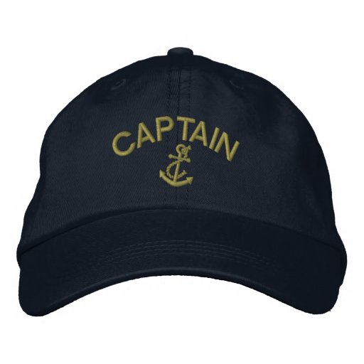 Captain With Anchor Embroidered Baseball Hat