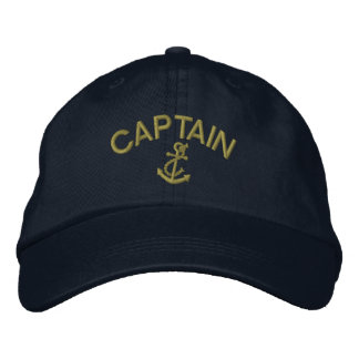 Captain With Anchor Embroidered Hats
