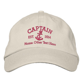Captain With Anchor Personalized Baseball Cap