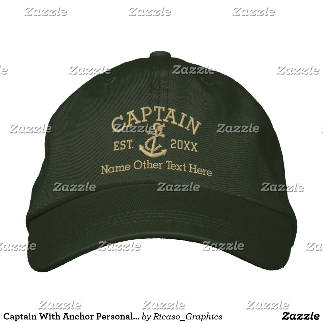 Captain With Anchor Personalized