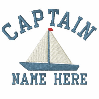 Captain - With Yacht customizable Embroidered Polo Shirts