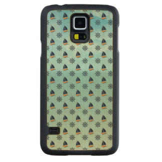 Captain Yacht Boat Sailing Marine Nautical Pattern Carved® Maple Galaxy S5 Case