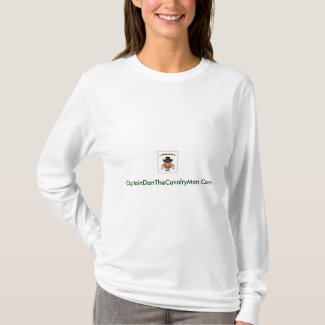 CaptainDanTheCavalryMan.Com-Womens T-Shirt
