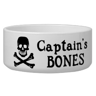 Captain's Bones Dog Bowl