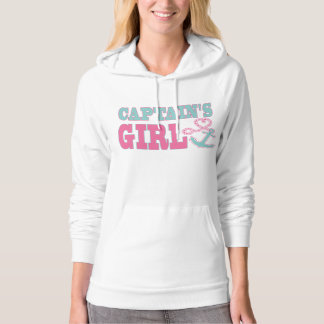 Captain's Girl Anchor and Heart Hoodie