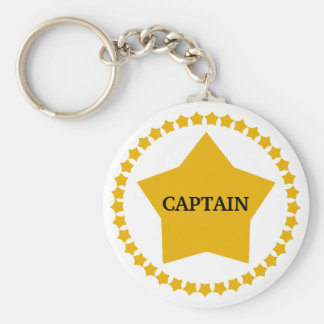 Captain's Gold Star Keychains