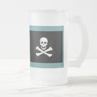 Captain's Grog II 16 Oz Frosted Glass Beer Mug