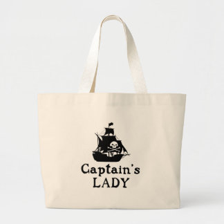 Captain's Lady Large Tote Bag
