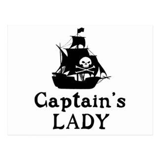 Captain's Lady Postcard