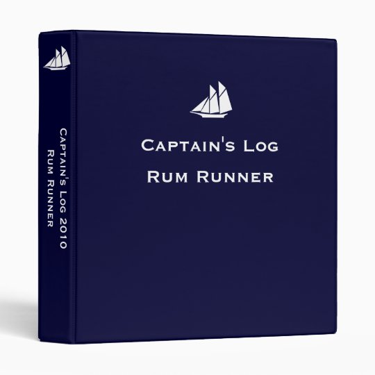Captain's Log ~ Changeable Year 3 Ring Binder
