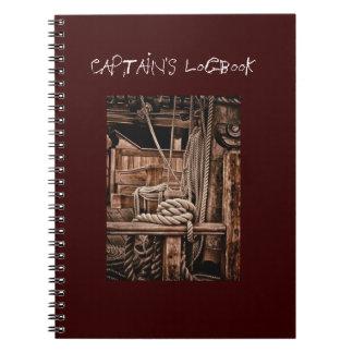 Captain's logbook notebook
