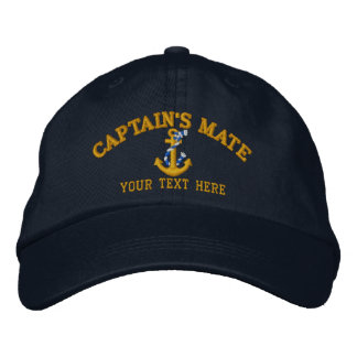 Captain's Mate Anchor Easily Personalized Embroidered Baseball Cap