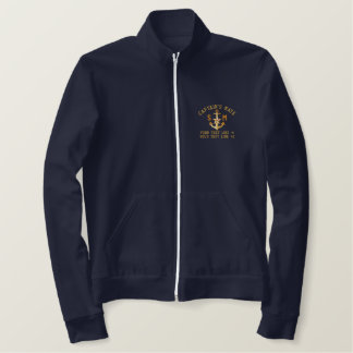 Captain's Mate Anchor Your Monogram and Text Embroidered Jacket