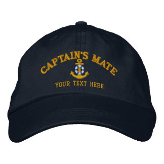 Captain's Mate Easily Personalized Embroidered Baseball Hat