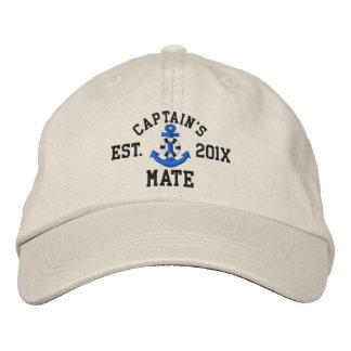 Captain's Mate Lifesaver Blue Anchor Custom Year Embroidered Baseball Cap