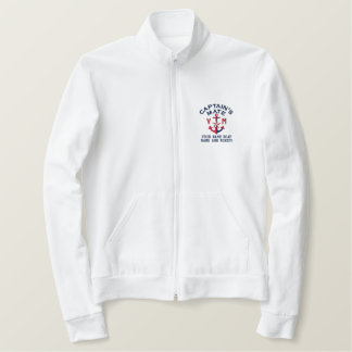 Captain's Mate Nautical Anchor Personal Monogram Embroidered Jacket