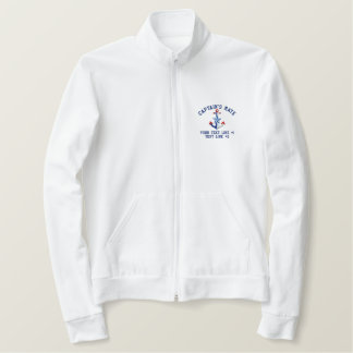 Captain's Mate Nautical Your Boat Name Your Name Embroidered Jacket