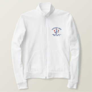 Captain's Mate Nautical Your Monogram and Text Embroidered Jacket