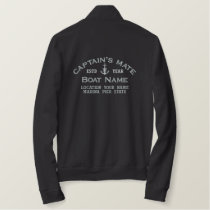 Captain's Mate Silver Anchor Easily Personalized Embroidered Jacket