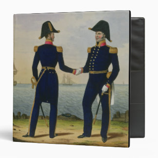 Captains, plate 5 from 'Costume of the Royal Navy Binders