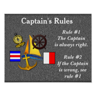 Captain's Rules_ poster