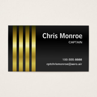 Captain's Stripes Business Card