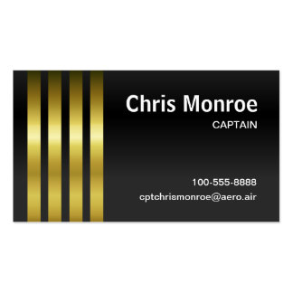 Captain's Stripes Double-Sided Standard Business Cards (Pack Of 100)