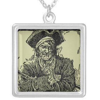 Captain's Swag Square Pendant Necklace