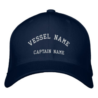 Captains Vessel Embroidered Wool Cap Navy
