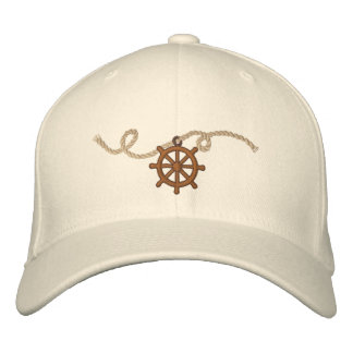 Captains Wheel 3 Motif Embroidered Hat