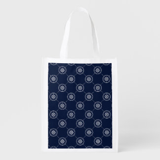 Captain'S Wheel Pattern Reusable Grocery Bag