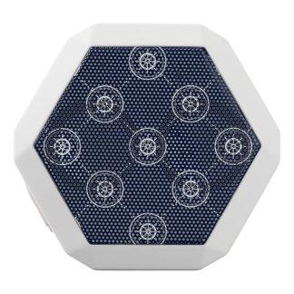Captain'S Wheel Pattern White Bluetooth Speaker