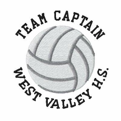 Captano del equipo - voleibol sudadera bordada con serigrafía