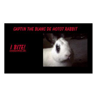 captin001, Captin el Blanc De Hotot Rabbit, I… Tarjetas De Visita