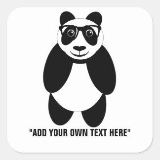 Caption It Smart Panda Square Sticker