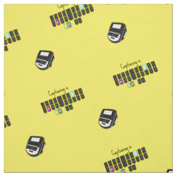 Captioning is Cool Steno Keyboard Fabric