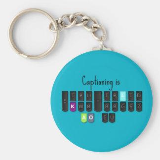 Captioning is Cool Steno Keyboard Key Fob Keychain