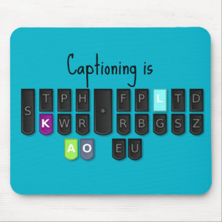 Captioning is Cool Steno Keyboard Mouse Pads