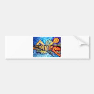 Captiva Abstract Car Bumper Sticker