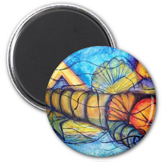 Captiva Abstract 2 Inch Round Magnet