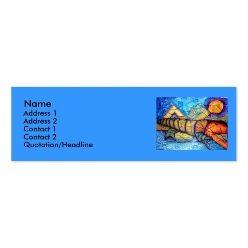 Captiva Fantasy - watercolor Double-Sided Mini Business Cards (Pack Of 20)